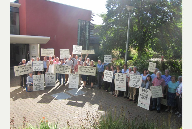 Protestors at the Council Meeting